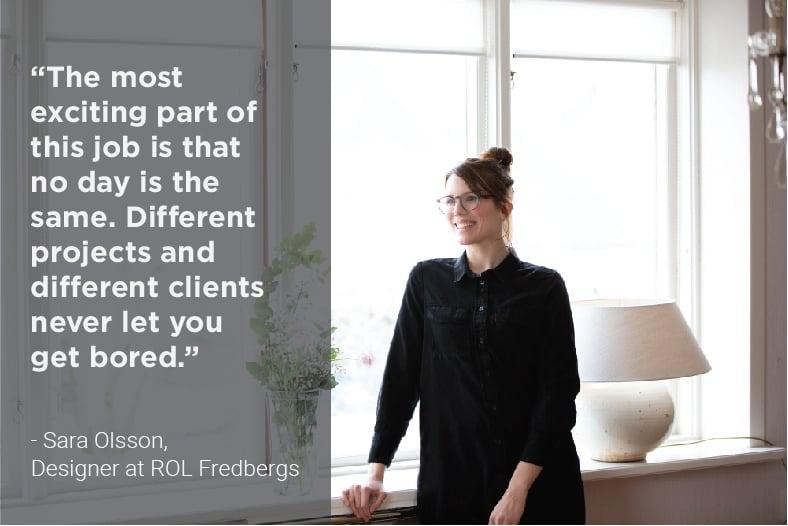 Sara Olsson, designer at ROL Fredbergs