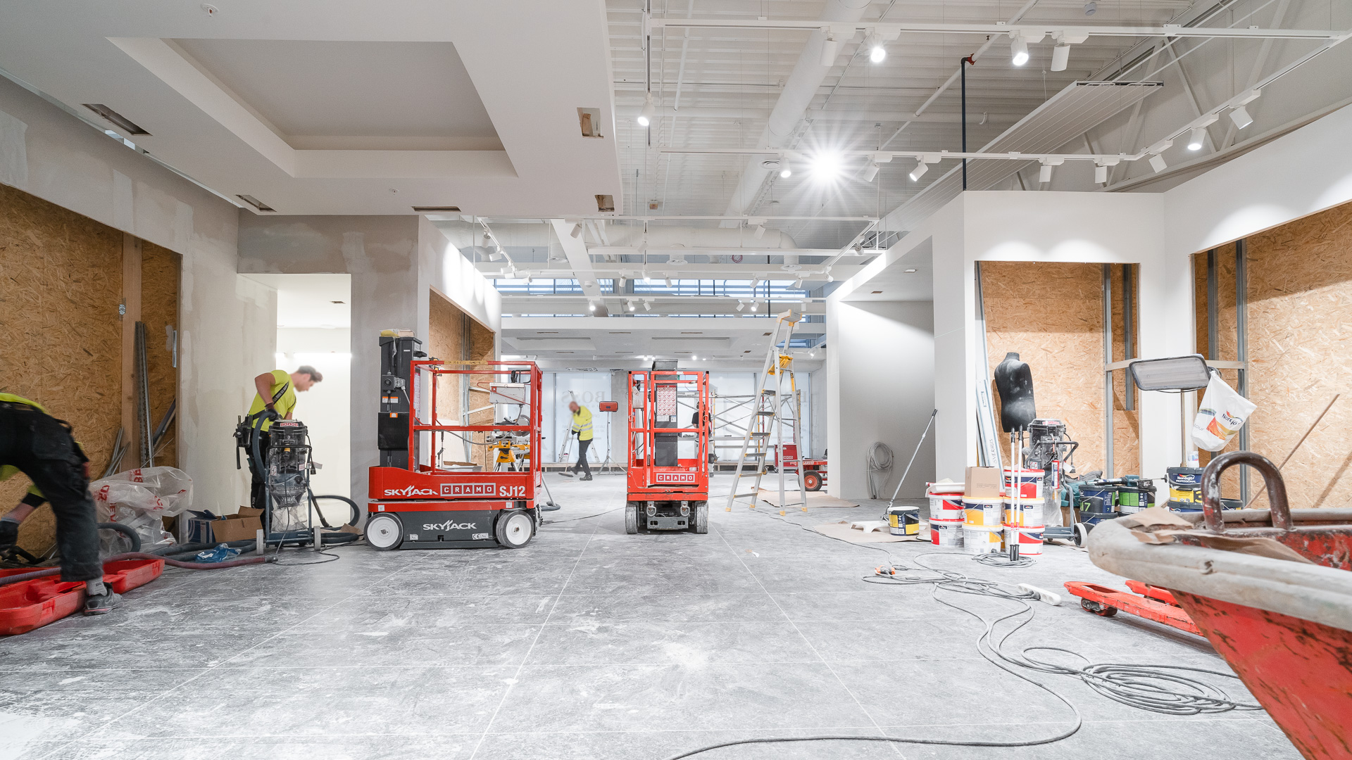 Retail construction project in process